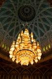 in Oman und im Leuchter Lizenzfreies Stockfoto