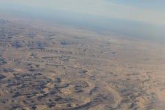 Oman-Wüste, aereal Ansicht Stockfoto