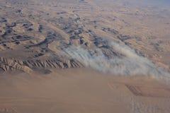 Oman-Wüste, aereal Ansicht Stockfotos