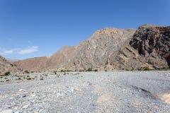 oman wadi Obrazy Stock