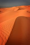 Oman: Wahiba Sands. Beautiful sand desert area called Wahiba Sands in Oman just before sunset Stock Photo