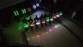 Omani band lights view in dark royalty free stock photo