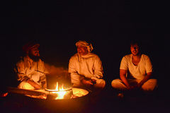Omani Bedu cooking Royalty Free Stock Photography