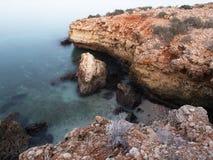 Omani coast near Bimmah. Morning on Omani coast near Bimmah Royalty Free Stock Photo