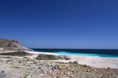Omani coast near Hasik. Beach near Hasik, Dhofar region, Oman Stock Photography