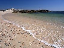 Omani coast near Hasik. Beach and rock formations near Hasik Stock Photo