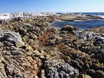 Omani coast near Hasik. Rock formations and coral reefs on Omani coast near Hasik Royalty Free Stock Photography
