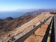 Omani coast near Wadi Snaiq. View on Omani coast near Wadi Snaiq from a new coastal road Royalty Free Stock Images