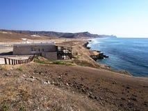 Omani coast in western Dhofar. Omani coast between Al Marneef and Al Mughsayl Royalty Free Stock Photos