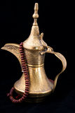 Omani coffee. Traditional omani brass coffee pot Royalty Free Stock Photography