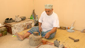 Omani Coppersmith Royalty Free Stock Image