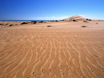 Omani desert. Dunes on the way from Shannah to Al Askarah Royalty Free Stock Images