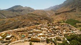 Omani dorp in de bergen stock footage