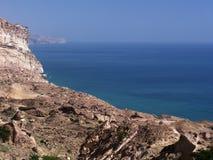 Omani kust dichtbij Hasik royalty-vrije stock afbeelding
