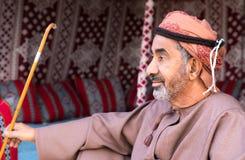 Omani mężczyzna lounging Fotografia Royalty Free