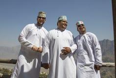Omani men lauging Royalty Free Stock Photo
