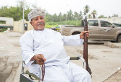 Omani mens met een kanon Stock Foto