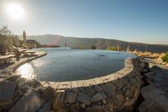 Oman Mountains at Jabal Akhdar in Al Hajar Mountains stock photography