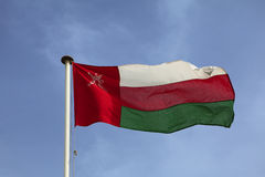 Omani national flag Stock Photos