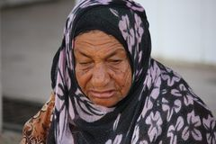 Omani Old Woman Royalty Free Stock Images