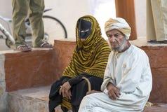 Omani para przy rynkiem Obraz Royalty Free