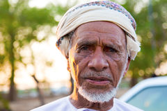 Omani. Portrait of an old Omani Man Royalty Free Stock Photography