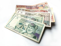 Omani rial or riyal currency on white background stock photography
