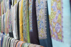 Omani scarves. In the muscat souk Stock Photography
