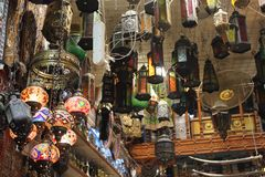Omani traditional lamps shop. Stock Images