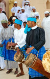 Omani Tribal Drummers Royalty Free Stock Photography