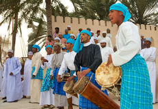 Omani Tribal Drummers Stock Photography