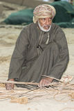Omani weaving palm leaves Stock Images
