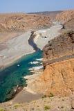 Omansk wadi Royaltyfria Bilder