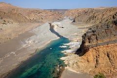 Omansk wadi Arkivbilder