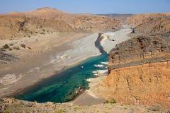 Omansk wadi Arkivbild