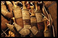 Omanska Khanjar är en traditionell dolk Arkivfoto