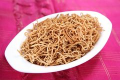 Bamboo rice crom seeds snack/ Moongil arisi Omapodi. Omapodi is an easy snack, its made during Diwali festival, its very nutritional and healthy. Prepared with Royalty Free Stock Photography