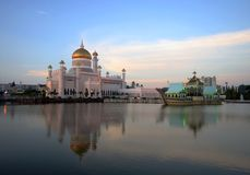 OMAR ALI MOSQU OF BRUNEI Royalty Free Stock Images