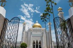 Omar Ali Saifuddien Mosque, Brunei Royalty-vrije Stock Afbeelding