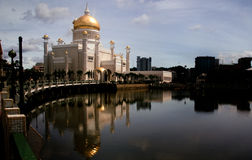 Omar Ali Saifuddin Mosque Brunei. Sultan Omar Ali Saifuddin Mosque is a royal Islamic mosque located in Bandar Seri Begawan, the capital of the Sultanate of stock photos