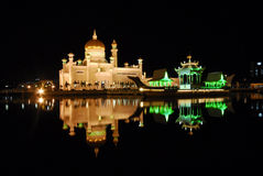 Omar Ali Saifuddin Mosque in Brunei Darulsalam Stock Photos