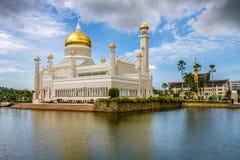 Omar Ali Saifudding meczet Seri Begawan Zdjęcia Stock