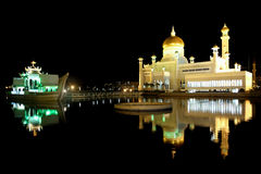 Omar Ali Saifudding Mosque-Bandar Seri Begawan royalty-vrije stock fotografie
