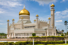 Omar Ali Saifudding Mosque-Bandar Seri Begawan. Beautiful View of Sultan Omar Ali Saifudding Mosque, Bandar Seri Begawan, Brunei, Southeast Asia Royalty Free Stock Images