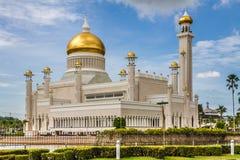 Omar Ali Saifudding Mosque-Bandar Seri Begawan. Beautiful View of Sultan Omar Ali Saifudding Mosque, Bandar Seri Begawan, Brunei, Southeast Asia royalty free stock images