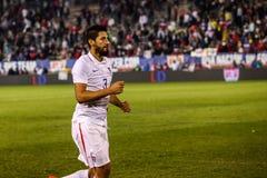 Omar Gonzalez #3 efter match Fotografering för Bildbyråer
