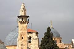 Omar Minaret - Jerusalén - Israel fotos de archivo libres de regalías