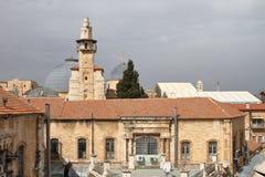 Omar Minaret - Jerusalén - Israel fotos de archivo