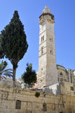 Omar minaret, Jerusalem. Stock Photos