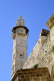 Omar minaret, Jerusalem. Royalty Free Stock Photo